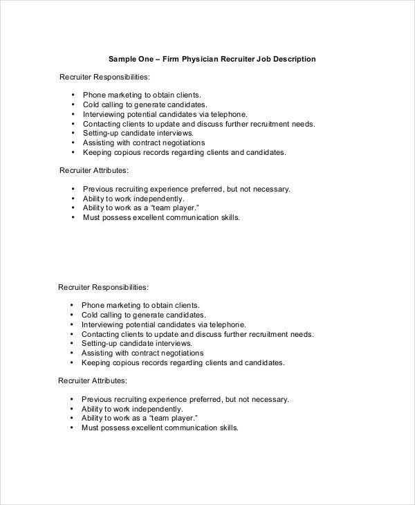 Physician Job Description - Free Sample, Example, Format | Free ...