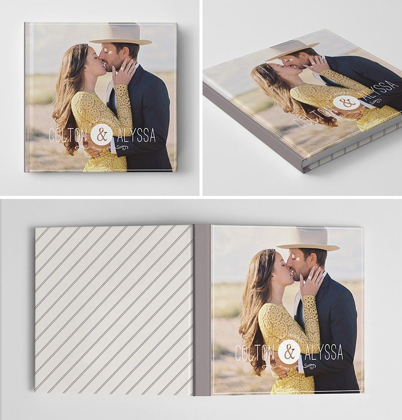 Engagement Album Book Cover Template for Photographers #photoshop ...