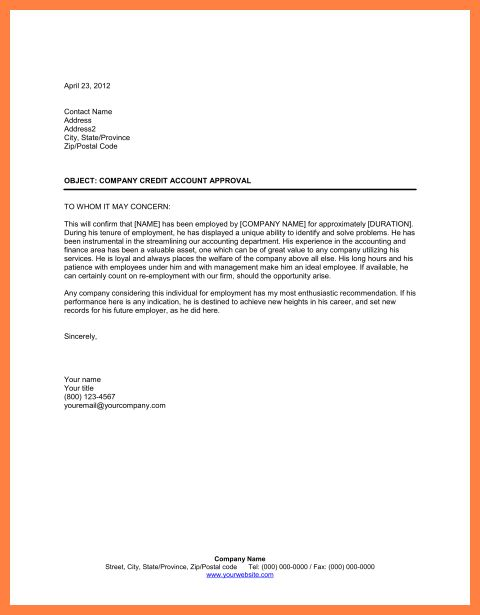 9+ recommendation letter for employee | Marital Settlements ...