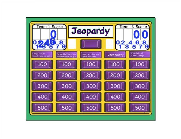 8+ Free Jeopardy Templates - Free Sample, Example, Format Download ...
