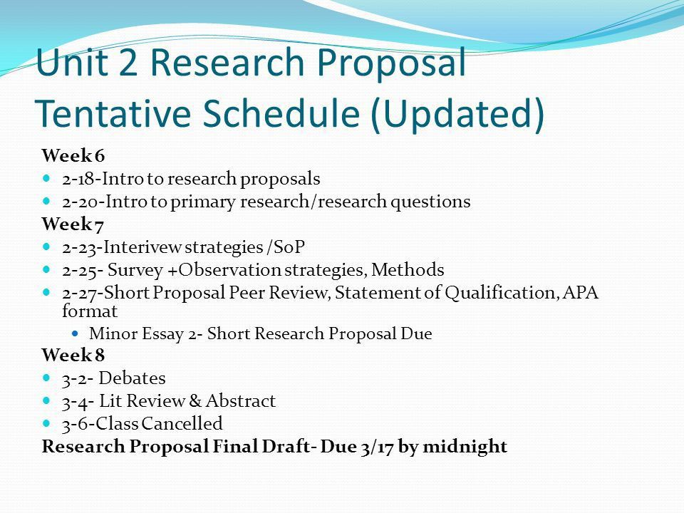 Chemistry research proposal example – Apreender