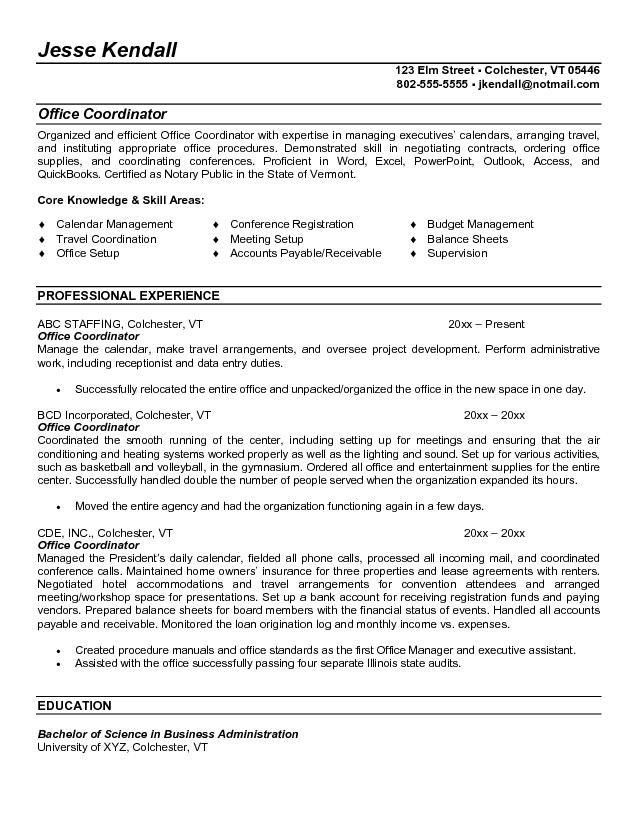 office administration resume examples simple yet effective office ...