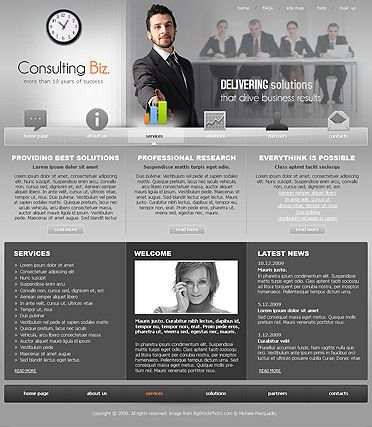 Consulting.Biz - Website template ID:300110479 from SiMaVerA.com