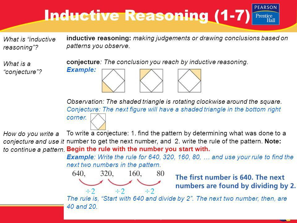 PRE-ALGEBRA. Lesson 1-7 Warm-Up PRE-ALGEBRA Inductive Reasoning (1 ...