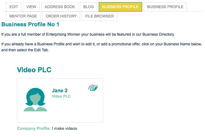 Editing your Business Profile | Enterprising Women