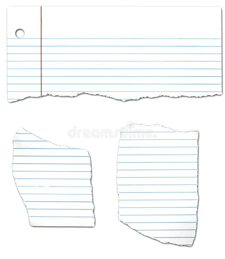 Ripped Looseleaf Paper Collection Stock Photos - Image: 4604793