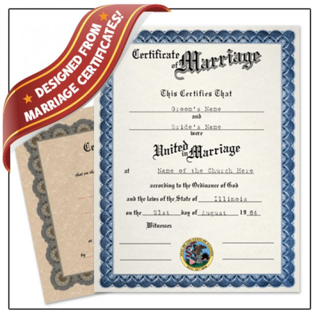 Fake Marriage License Template. blank marriage certificate ...