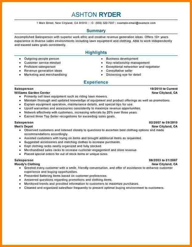 Job Resume Objective For Retail | Professional resumes sample online