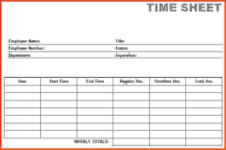 Time Cards Template.printable Blank PDF Time Card Time Sheets.jpg ...