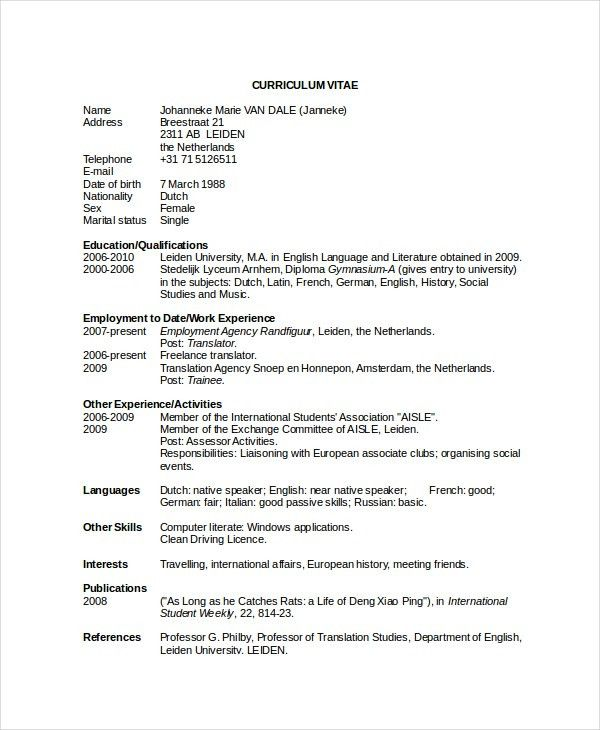 Executive Classic Format Resume Template Word | Create ...