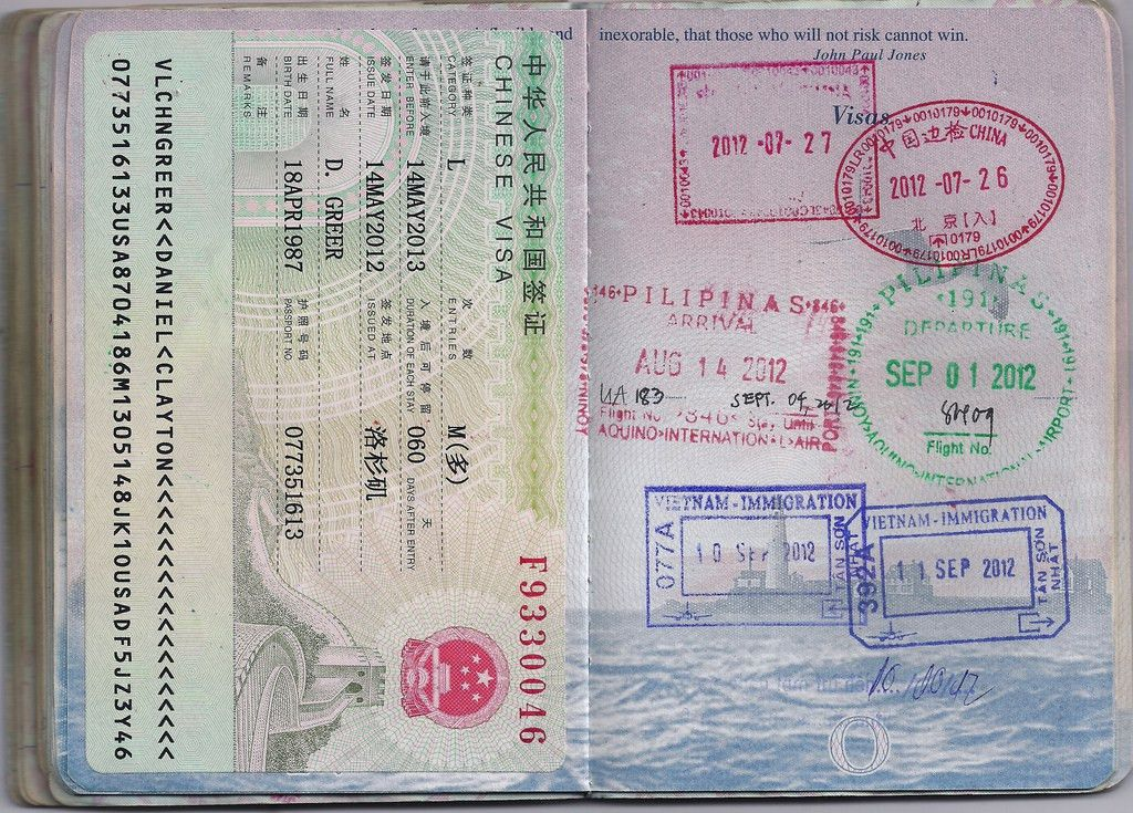All sizes | USA Passport: China, the Philippines, Vietnam | Flickr ...