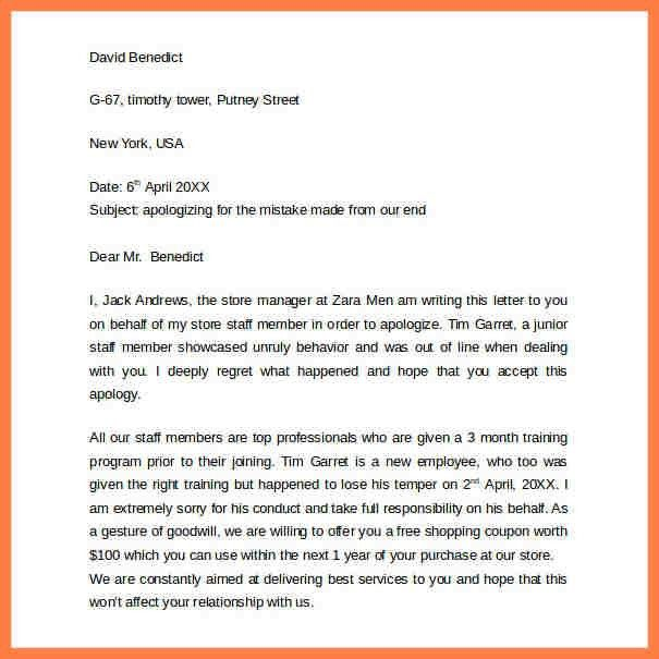 Customer Apology Letter. Formal Apology Letter Samples To Inspire ...