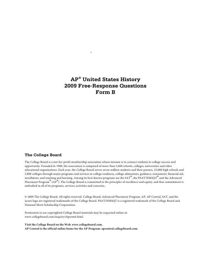 AP us history dbq