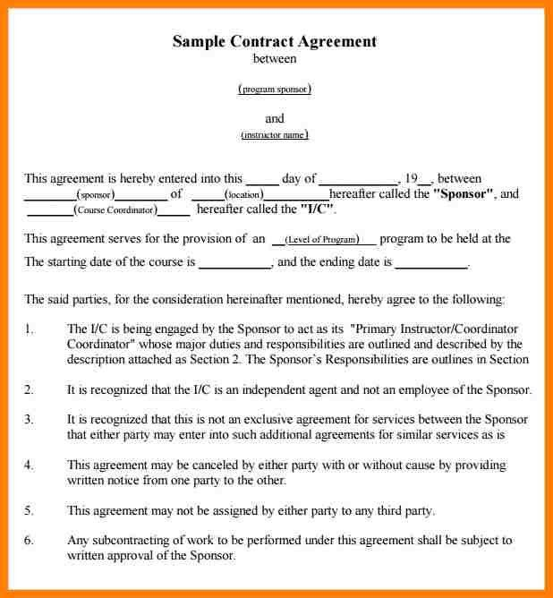 Beautiful Contract Examples Between Two Parties Photos - Best ...