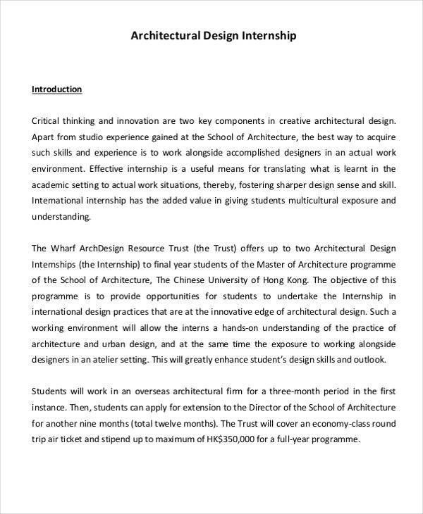Internship Report Sample. Architecture Student Internship Report ...