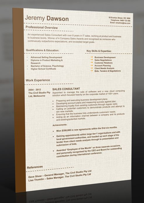 10 best Sample Resumes & Professional Resume Templates images on ...