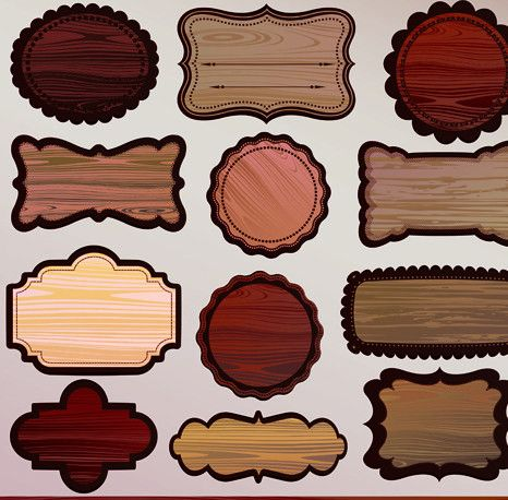 Various Wooden label design vector 03 - Vector Label free download