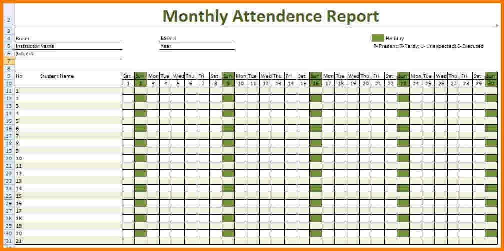 Attendance Tracking Template. Candidate_Screen_Tracker Jpg Free ...