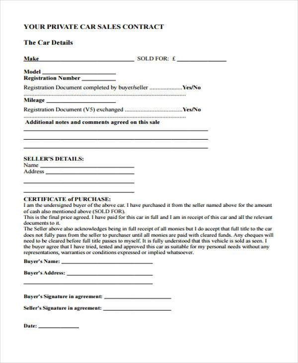 29+ Sample Sales Agreement Form