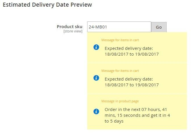Wyomind Estimated Delivery Date Magento 2 Extension | FireBear