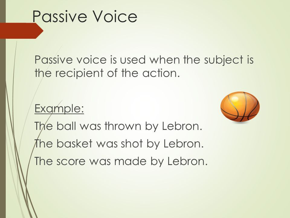 Using Active and Passive Voice - ppt video online download