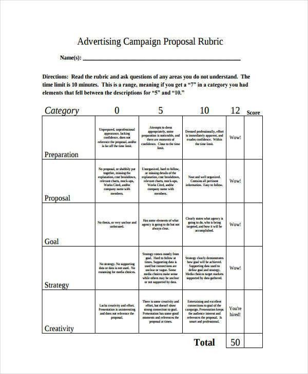 9 Advertising Proposal Templates - Free Sample, Example, Format ...