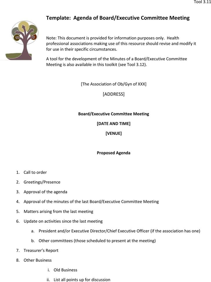 teacher meeting agenda template