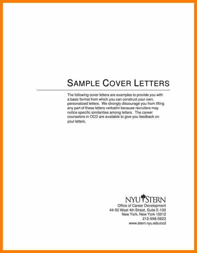 11+ example simple cover letter | science-resume