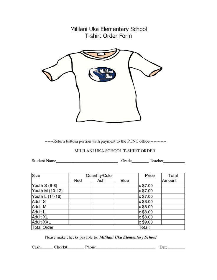 T Shirt Order Form. Manitou-T-Shirt-Order-Form Jpg T-Shirt Order ...