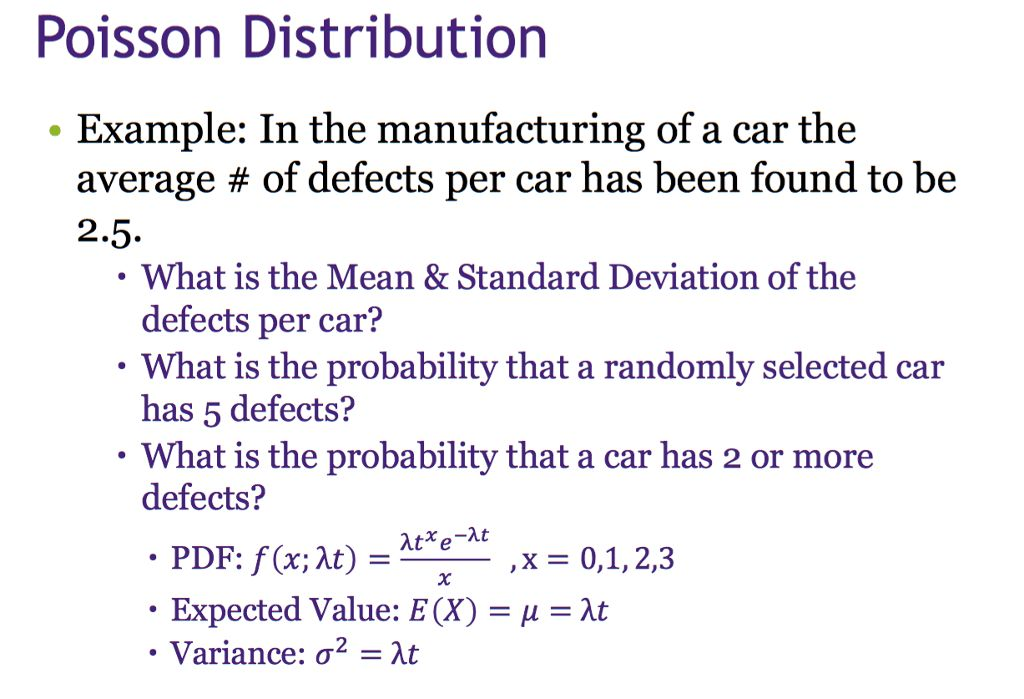 Example: In The Manufacturing Of A Car The Average... | Chegg.com