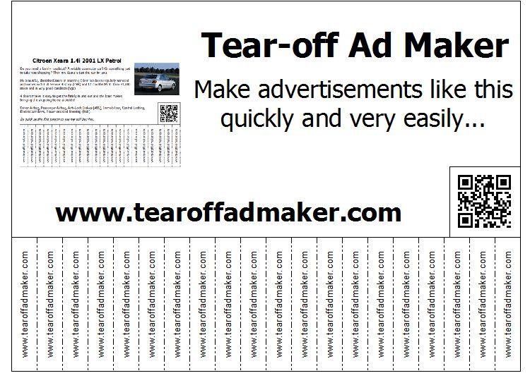 10 Best Images of Tear Off Flyer Maker - Tear Off Flyer Template ...