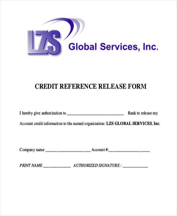 9+ Reference Release form Samples - Free Sample, Example Format ...