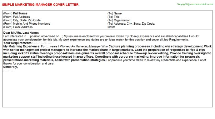 Marketing Manager Job Title Docs
