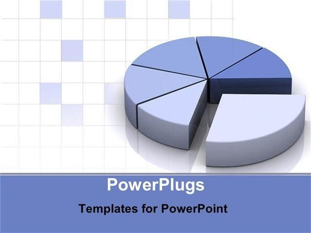 PowerPoint Template: grey and blue pie chart for data as a ...