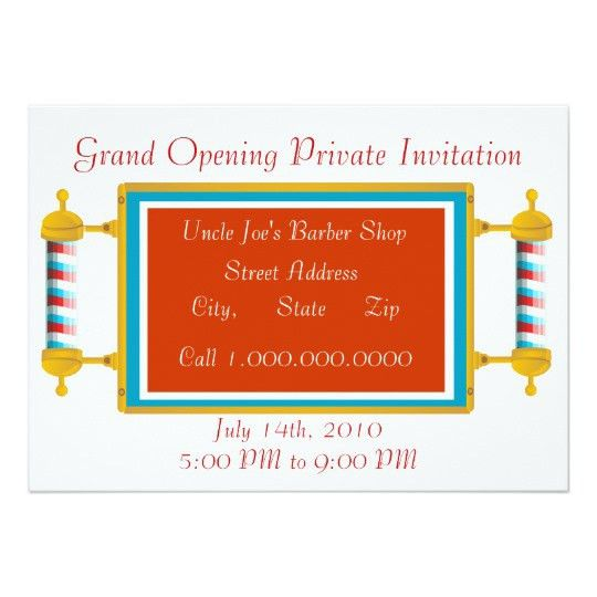 Barber Shop Grand Opening Card | Zazzle.com