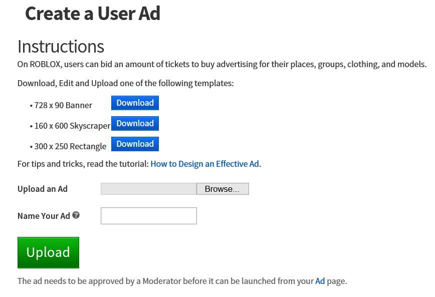 How to Make Ads – Roblox Support