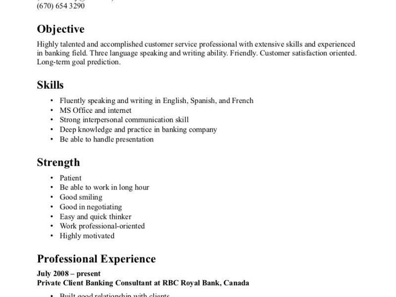 customer service job description for resume objective for customer ...