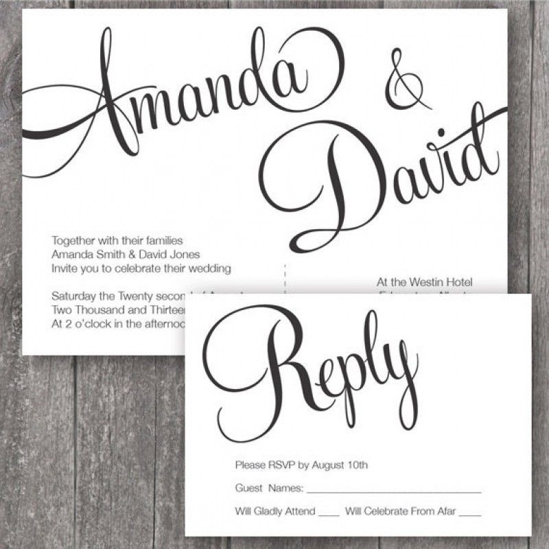 Wedding Invites Templates Free Printable | wblqual.com