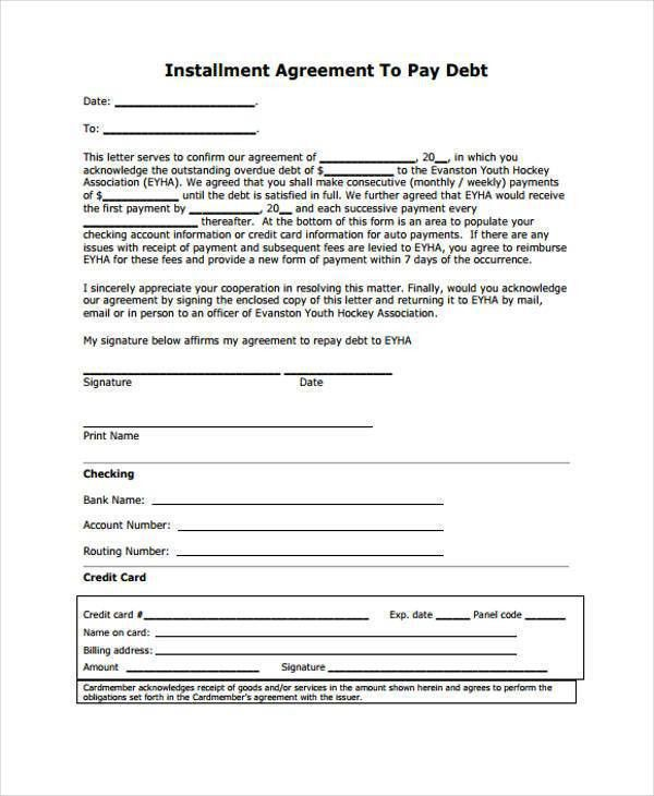 7+ Installment Agreement Form Samples - Free Sample, Example ...