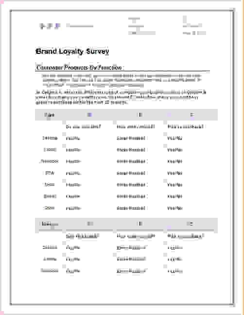 3+ microsoft word survey templateReport Template Document | report ...