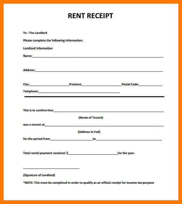 4+ rent receipts sample | park-attendant