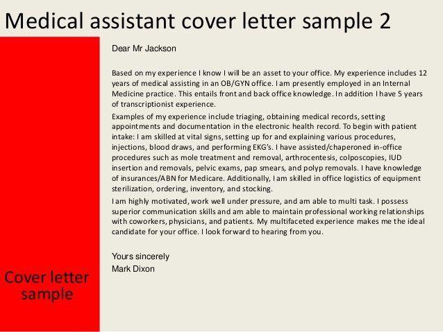 Ob Gyn Medical Assistant Cover Letter
