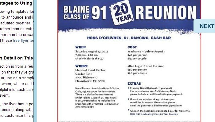 5 High School Reunion Flyer Templates | AF Templates