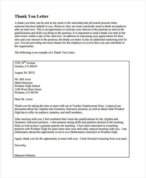 8+ Sample Teacher Thank You Letters - Free Sample, Example Format ...