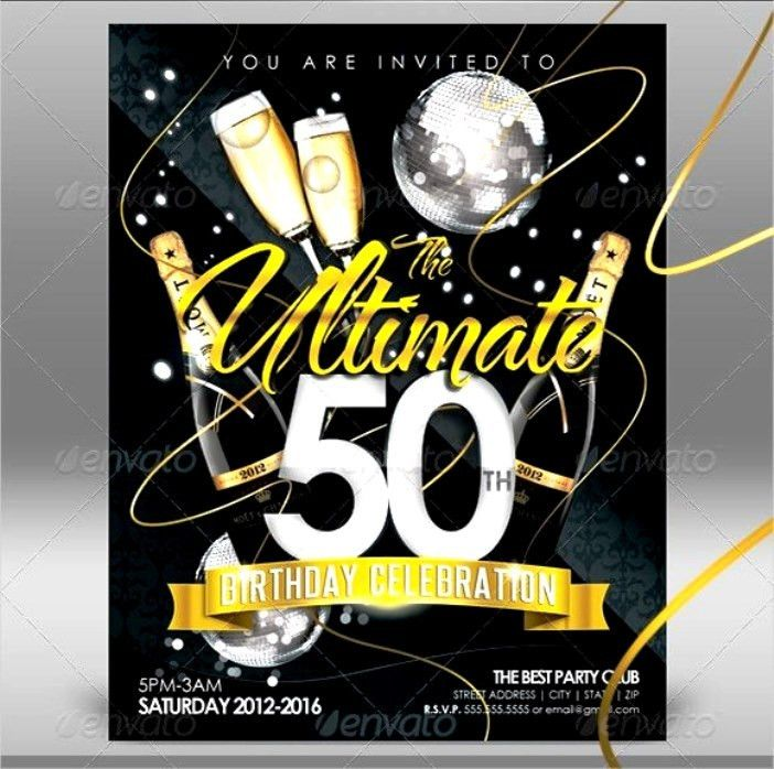 Template Lovely Happy 50th Birthday Invitation Templates With Hd ...