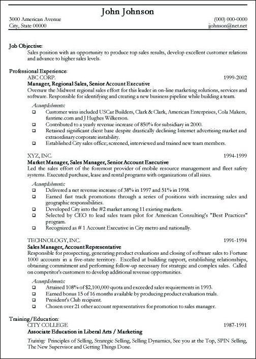 Resume Objectives For It Professionals 13 Managment Sample ...