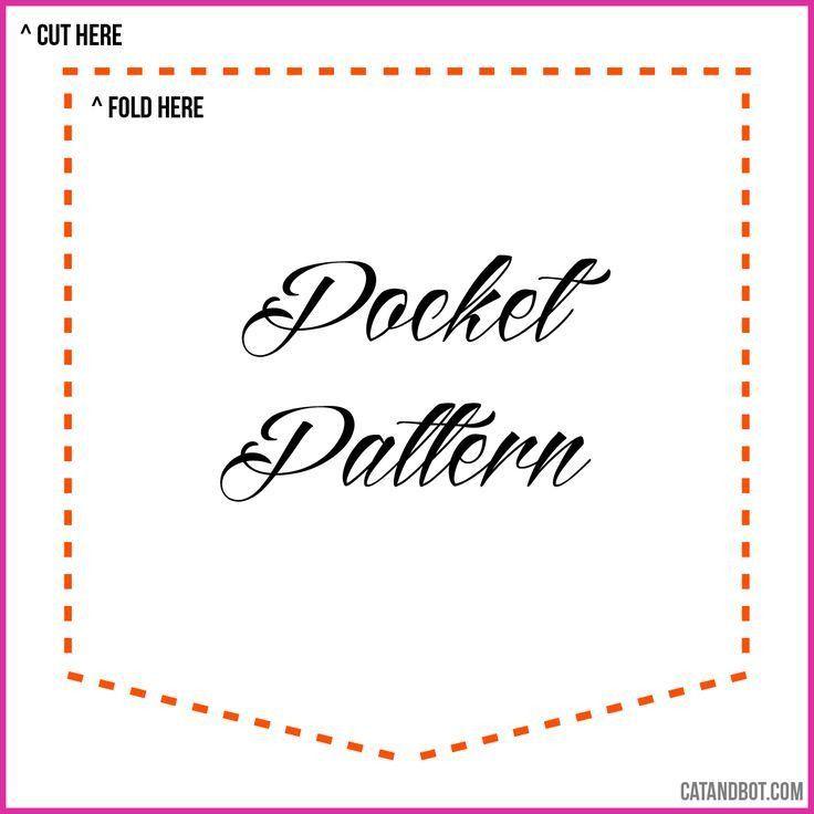 8 Best Images of Template For Sewing Pocket - T-Shirt Pocket ...