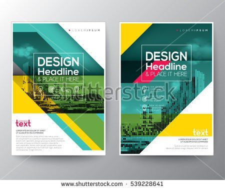 Green diagonal line Brochure annual report cover Flyer Poster ...