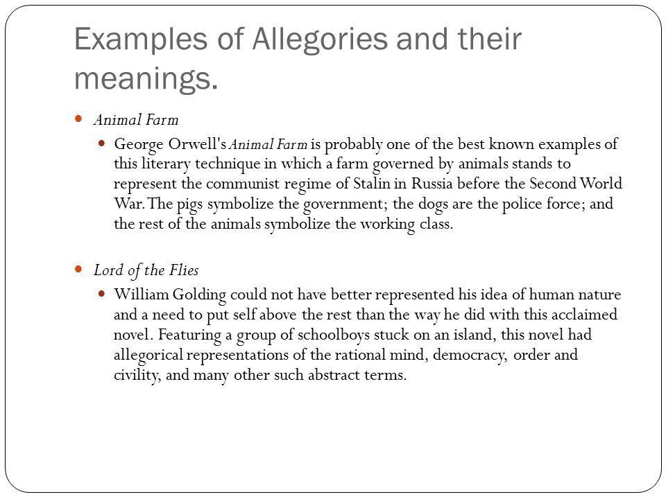 Allegories and Children's Books - ppt download