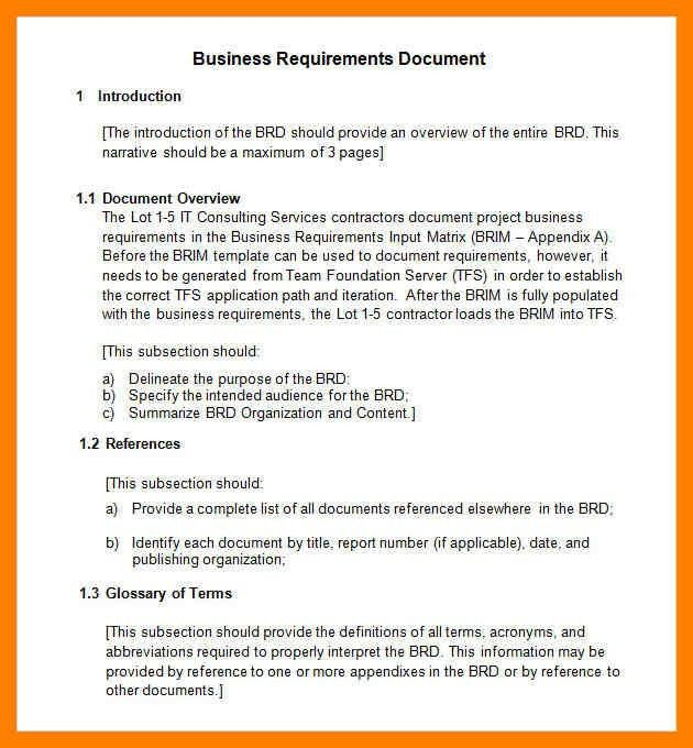 11+ simple business requirements document template | simple cv formate